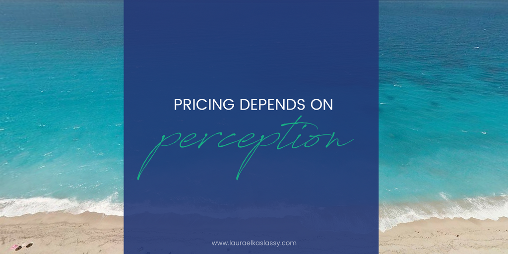 Pricing depends on Perception