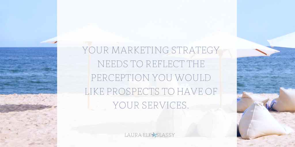 Marketing strategy supports pricing strategy