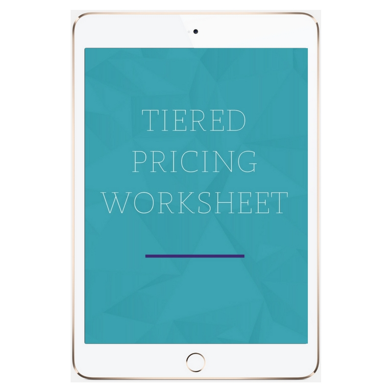 Tier Pricing for Business Worksheet